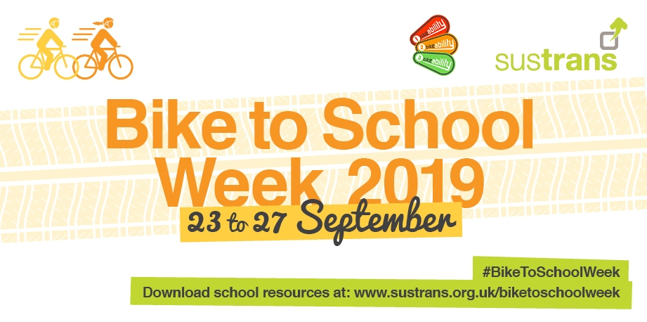 Encourage students to cycle to school during Bike to School week 23rd to 27th September