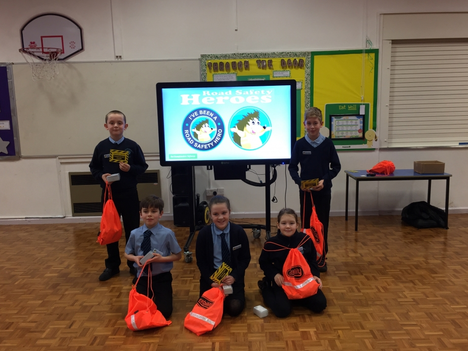 Welcome to the school's new Road Safety Heroes!
